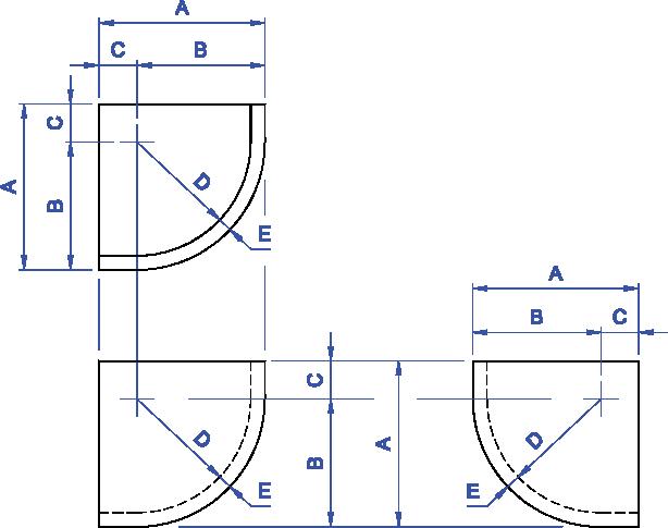 NABRICO - DF-486-6 / DF-487-12 Steel Corner Plates
