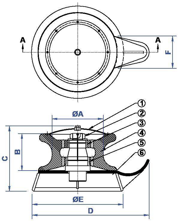 NABRICO - DF-517 Fairlead Pedestal Roller Chock